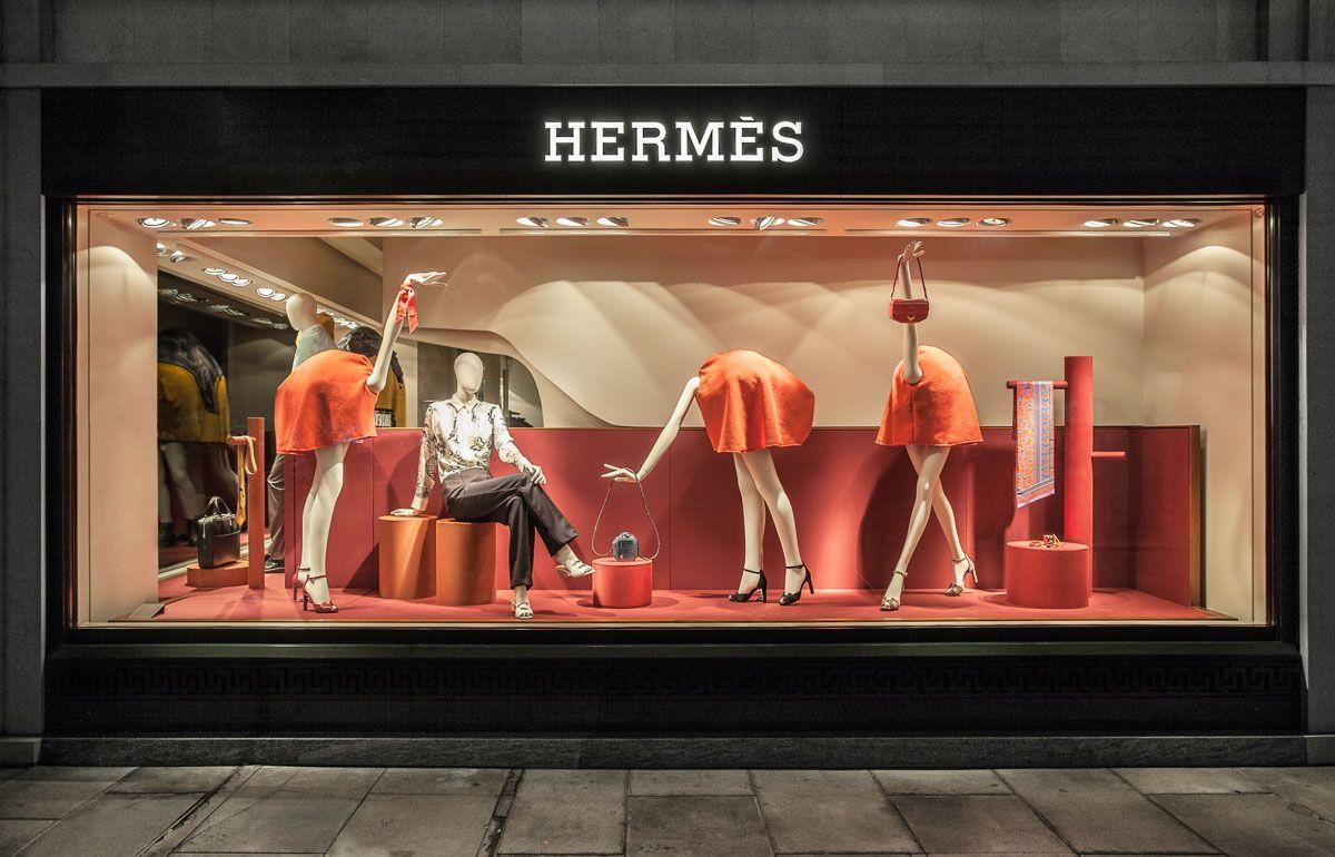 Panter & Tourron Hermès windows display Window display