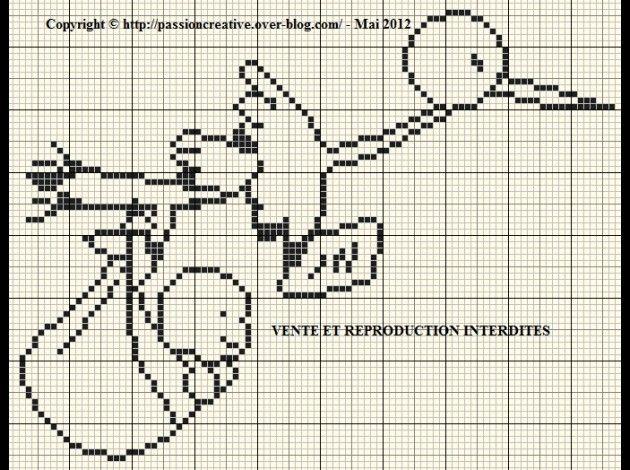 bébé - baby - cigogne - point de croix - cross stitch - Blog : http://broderiemimie44.canalblog.com/