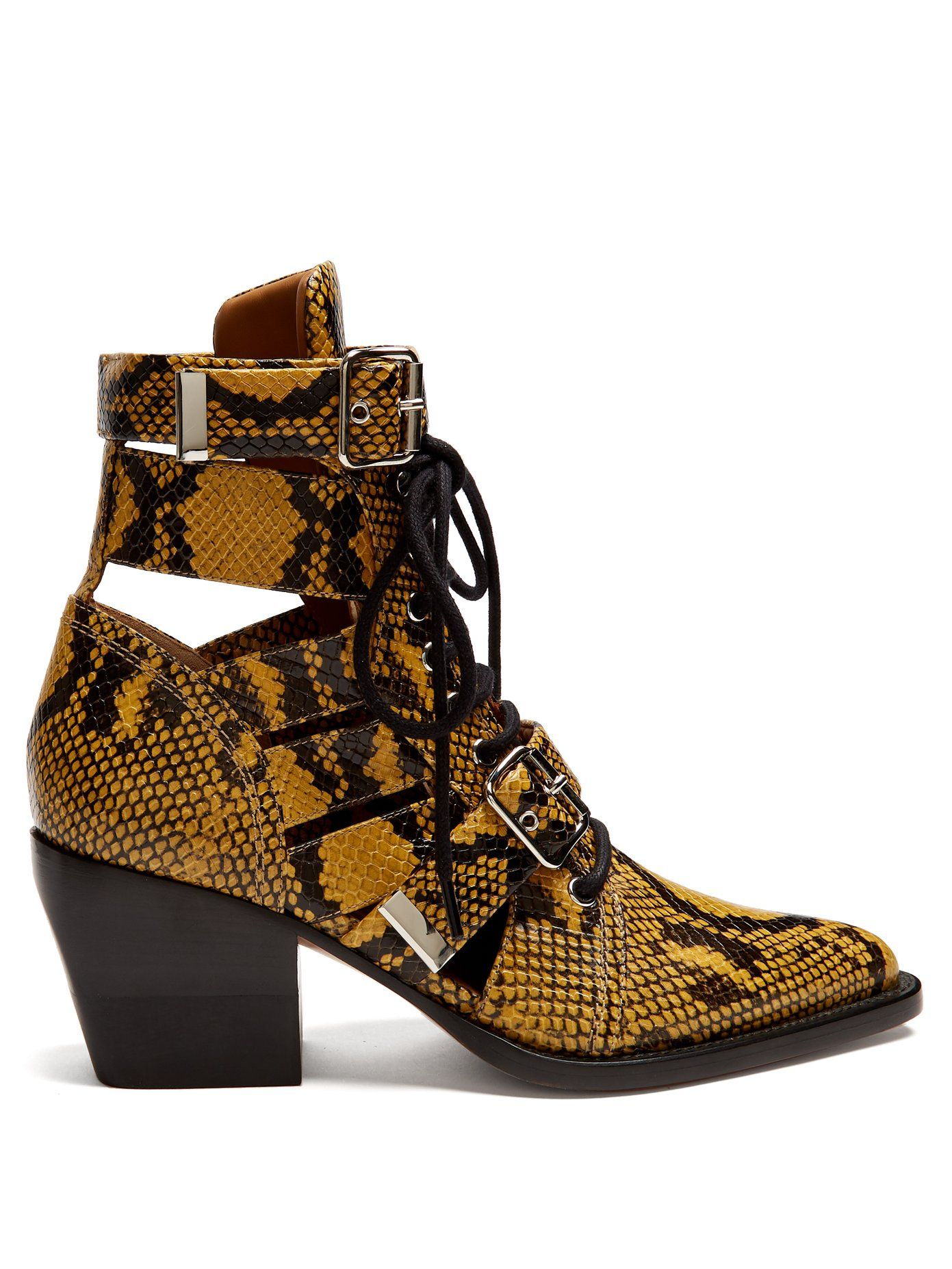 7eaf55f023 Rylee snake-effect leather ankle boots | Chloé | MATCHESFASHION.COM ...