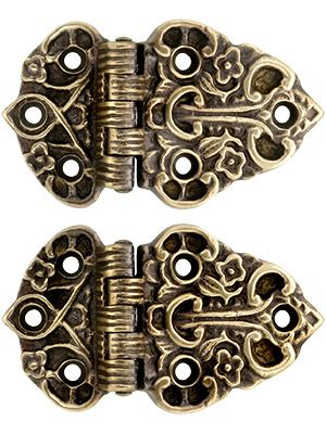 Ice Box Hardware Offset Cabinet Hinges With Antique By