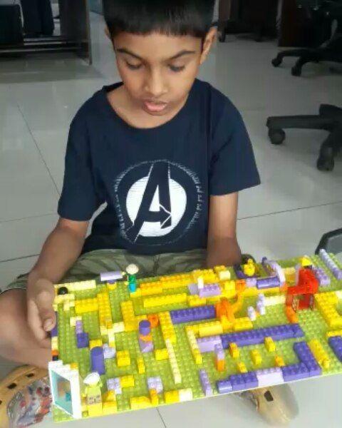 4th March - Batch 1 - Older kids create a marble maze. #lego ...