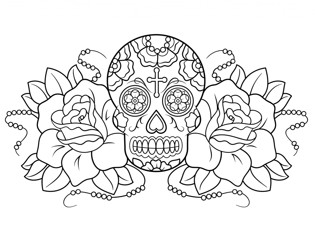 - Free Printable Day Of The Dead Coloring Pages - Best Coloring Pages For  Kids Skull Coloring Pages, Coloring Pages, Free Coloring Pages