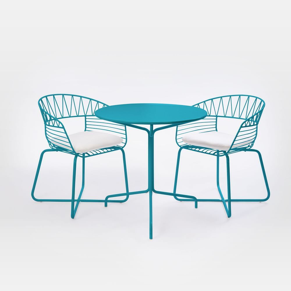 Soleil Metal Outdoor Bistro Dining Set Table 2 Chairs