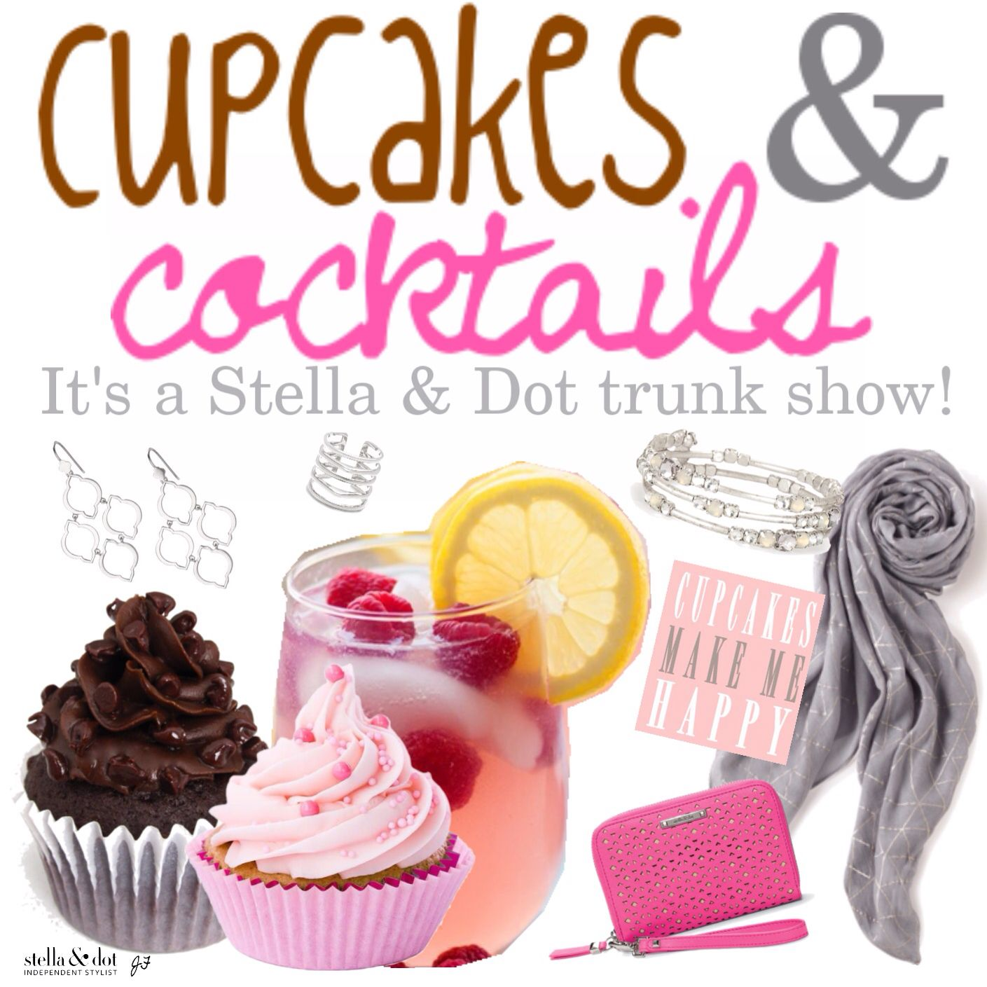 Cupcakes & Cocktails Stella & Dot Trunk Show Party Theme