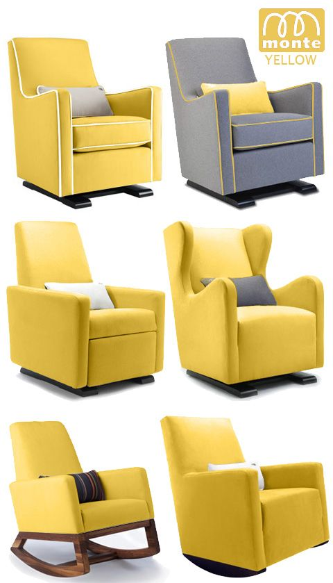 Monte Modern Nursery Furniture Glider Rocker Yellow ... Someone Buy Me This  For My Baby Shower @lindseyfrost