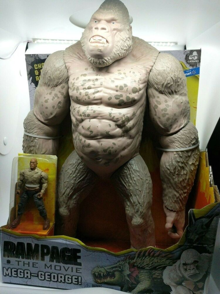 Rampage Mega George Gorilla Movie Toys Monkey The Rock Action Figure For Kids Toy Monkey Action Figures Gorilla