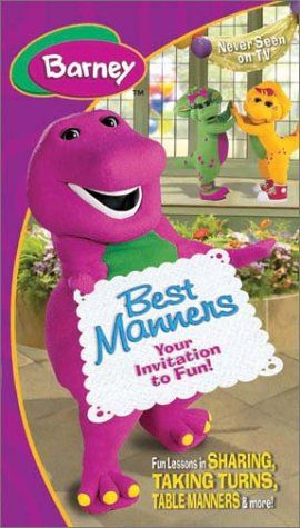 Barney Best Manners Invitation To Fun Vhs Hit Http Www Amazon Com Dp B0000a14ti Ref Cm Sw R Pi Dp 0o2eub0f Barney Barney The Dinosaurs Barney Friends