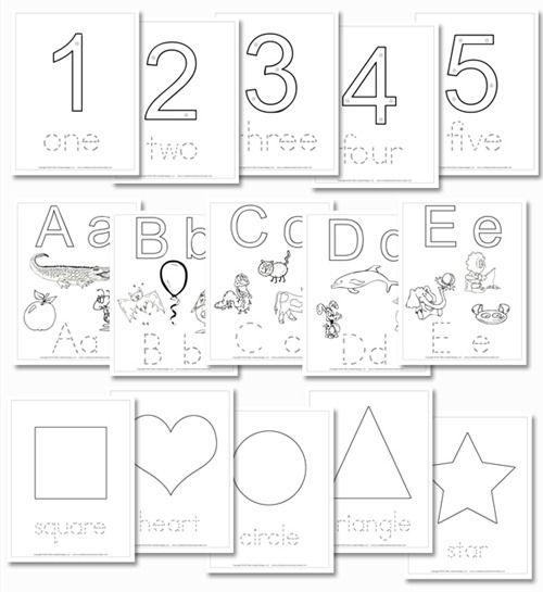 Free Printable Preschool Daily Learning Notebook  The Letters