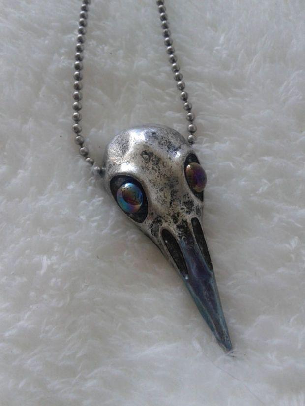 Vulture Skull Necklace by MarthaRotten on Etsy |Turkey Vulture Skull Pendant