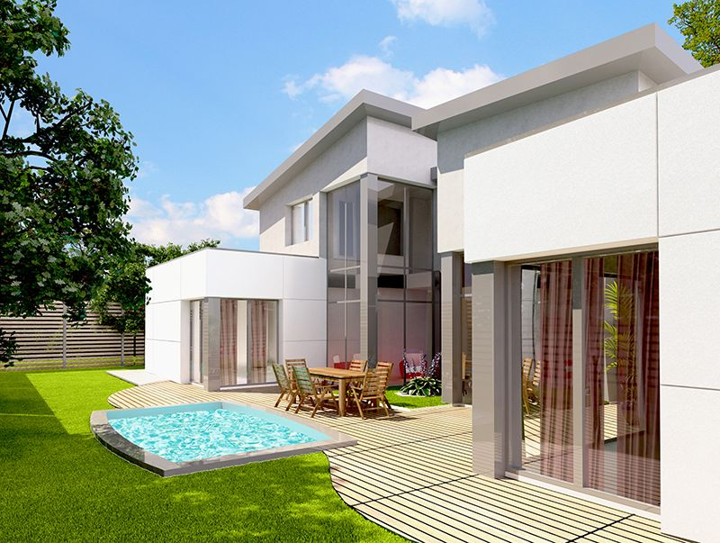 maison individuelle architecture contemporaine - Architecture Contemporaine Maison Individuelle