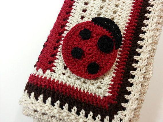 PATTERN Crochet Baby Ladybug Receiving Blanket by PoochieBaby ...