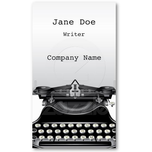 The Typewriter Business Card Zazzle Com In 2021 Business Card Design Business Cards Business