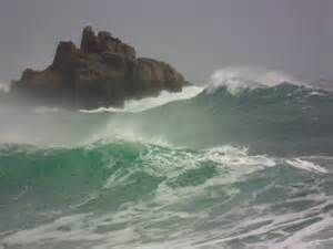 Storm waves at Porthcurno