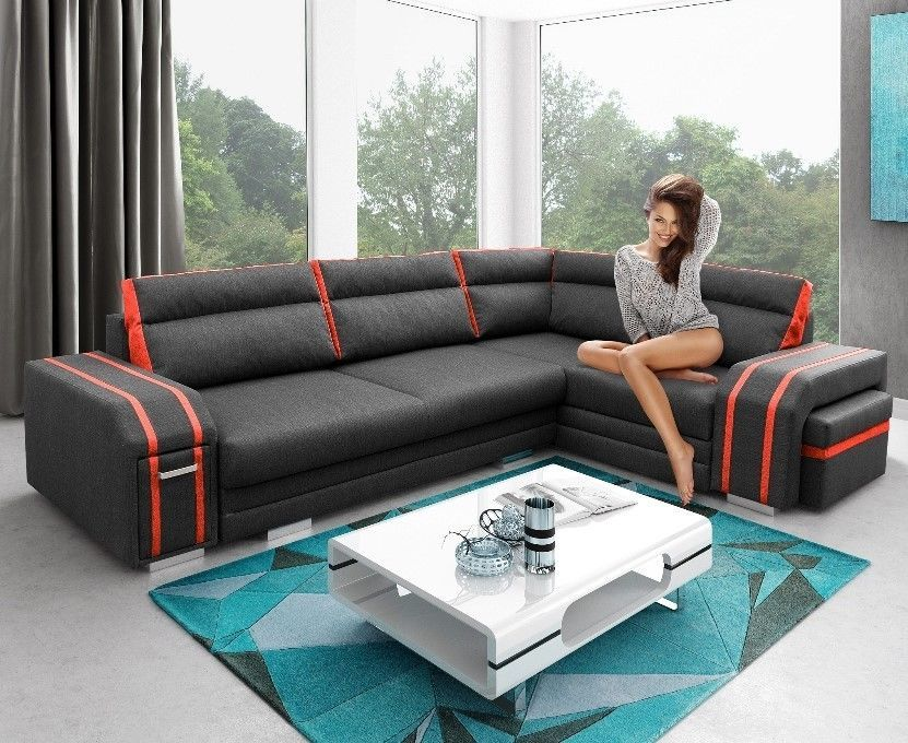 Details About Corner Sofa Bed Avant Storage Cushions Drawer Footstool Sleeping Function Couch Living Room Sofa Design Corner Sofa Sofa