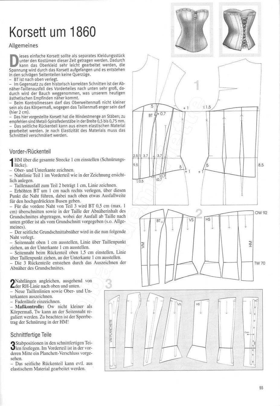 patron corset | Corsets-modelos y patrones | Pinterest ...