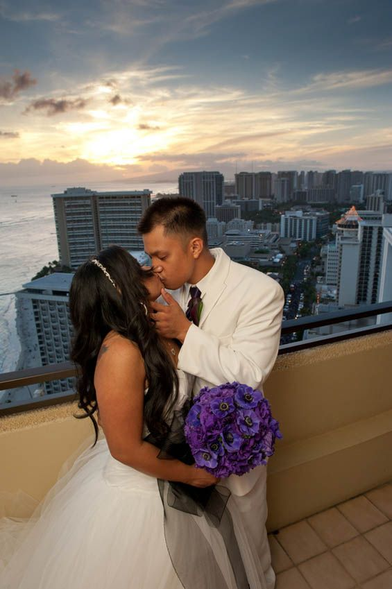 View from the top of the Hyatt Regency Waikiki