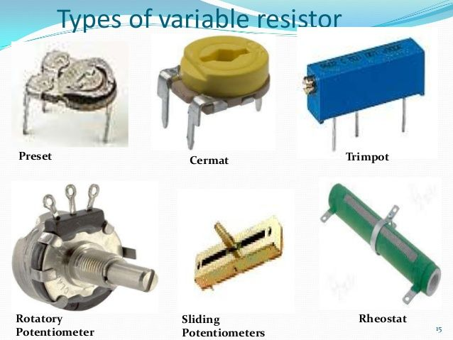 Types Of Variable Resistors Ece Eee