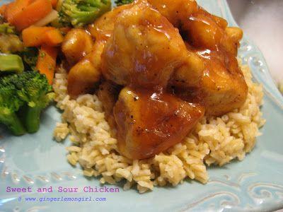 Sweet and Sour Chicken (Gluten Free)