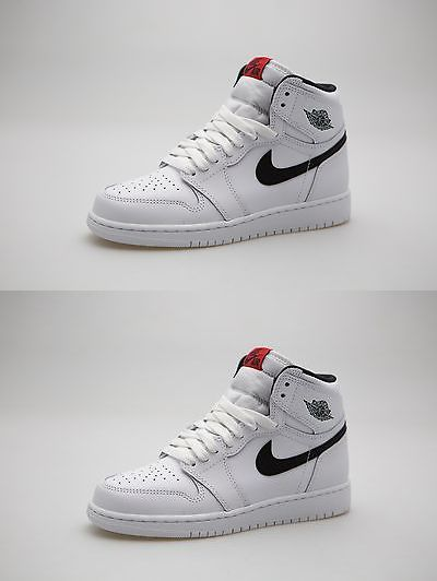 new style 6d121 a85d8 Boys Shoes 57929  575441-102 Big Kids Air Jordan 1 Retro High Og Gs Ying  Yang White Black Red -  BUY IT NOW ONLY   60 on eBay!