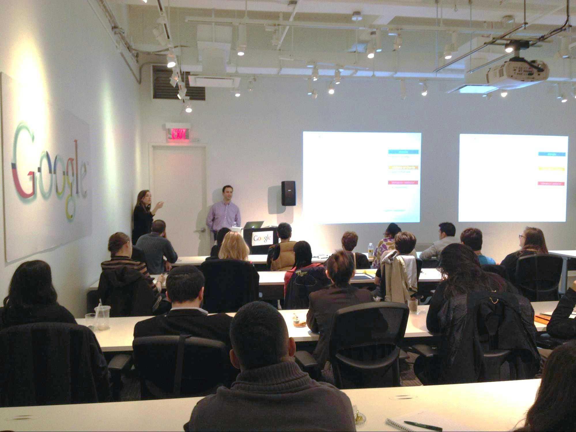 Imaginative google nyc office google nyc office training for Training room design ideas