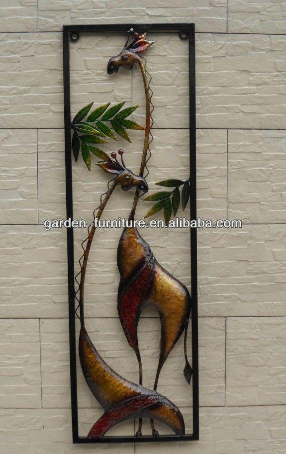 Metal Decorativo Arte Enmarcado Piezas Hierro Forjado Flores ...