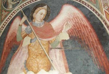 AFFRESCHI FRA IL XIV ED IL XV NELLE CHIESE DELLE MARCHE. Dettaglio di  affresco nella chiesa di San Domenico a Fabriano