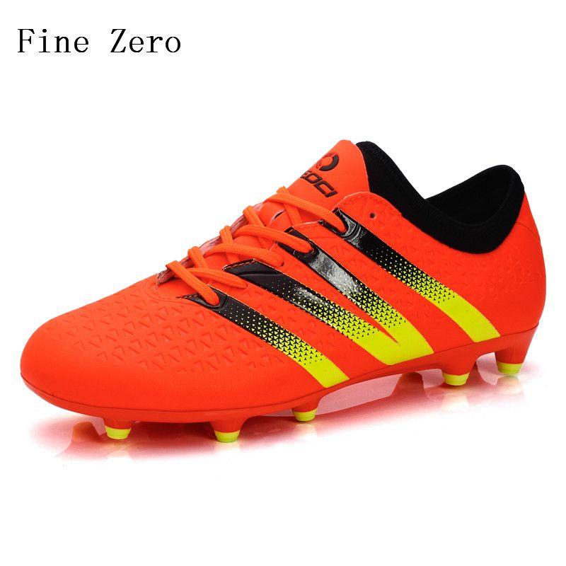 VITIKE Tricks firme terreno, zapatos de entrenamiento de fútbol de los hombres (EU41-Naranja)