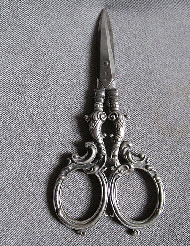 Antique Victorian Gorham Sterling Silver Desk Sewing Scissors Silver Desk Gorham Sterling Sewing Scissors