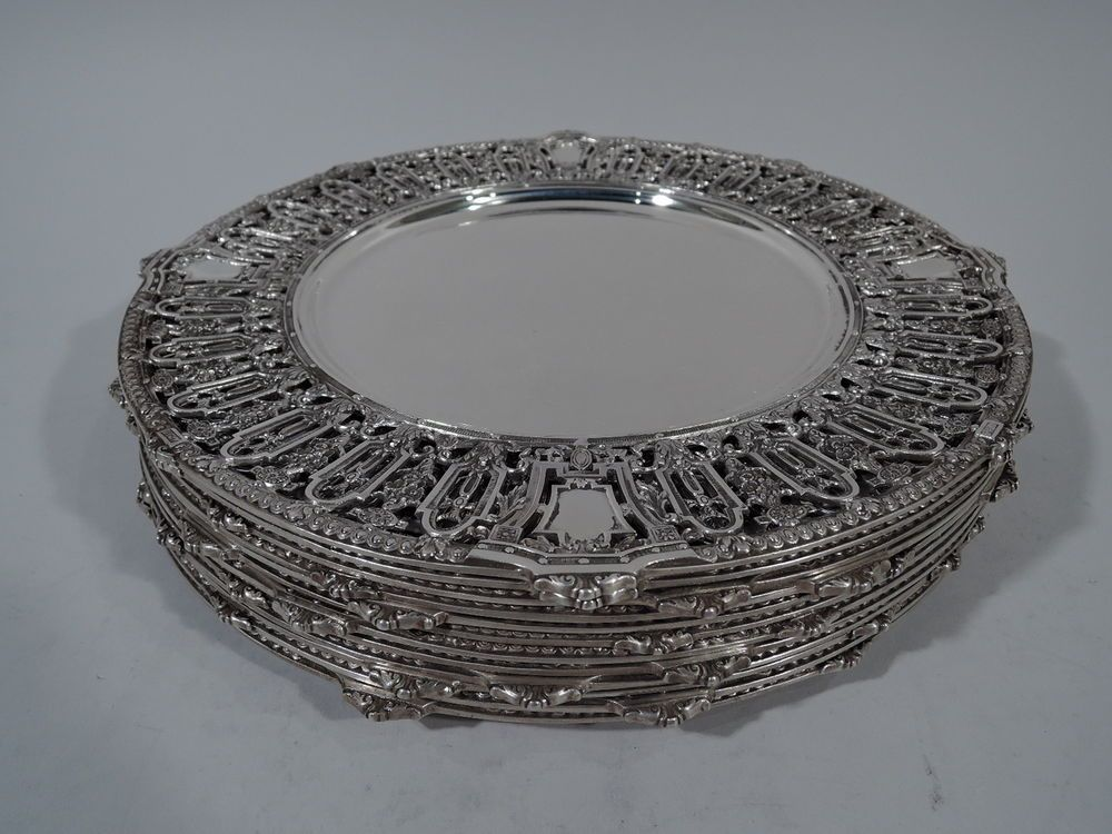 Details About Dominick Haff Lafayette Plates Chargers 1892 62