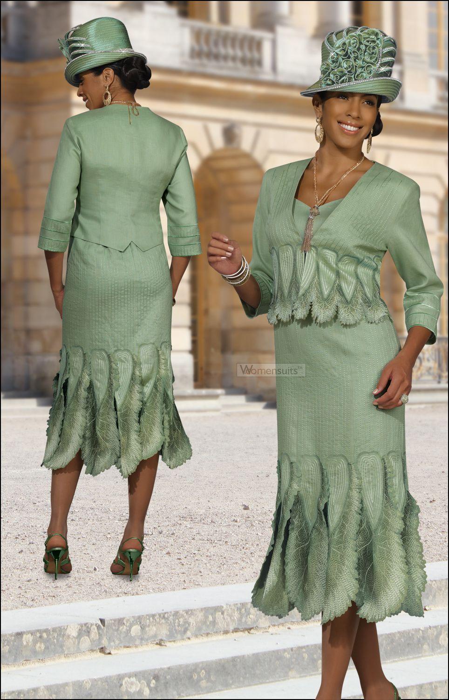 c083de02a7c Classy Mother of The Bride Special Occasion Sage Suit by Donna Vinci 11193   239.00