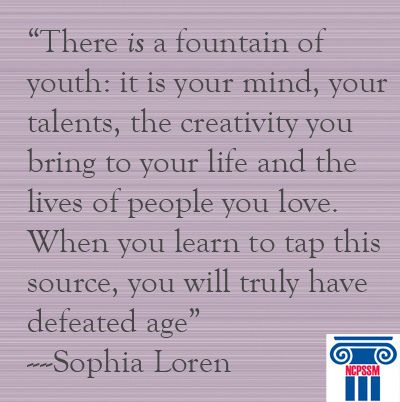 Fountain Of Youth Quotes Sophia Loren Quotes Aging Gracefully