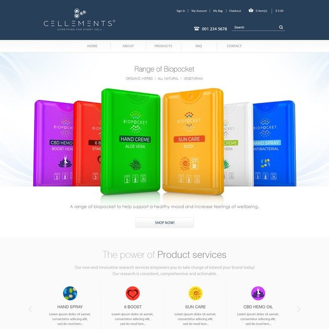 Health care products web design