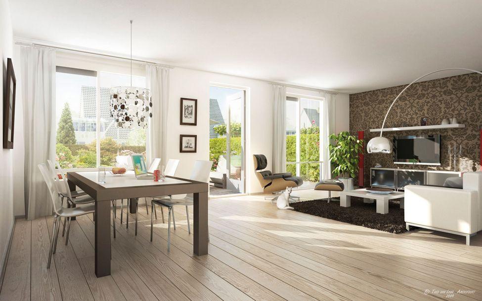 pingl par arbois christine sur piece de vie ouverte avec carrelage imitation parquet. Black Bedroom Furniture Sets. Home Design Ideas