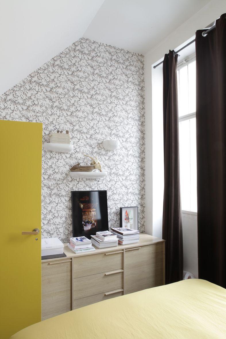 Een dorp van zes kleine huisjes roomed wallpaper pinterest