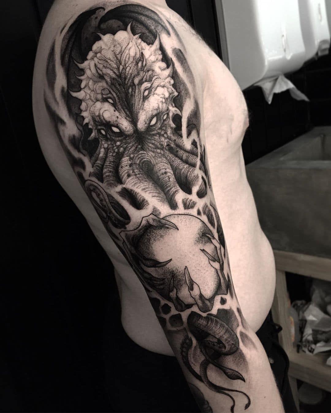 Cthulhu tattoo   Etsy