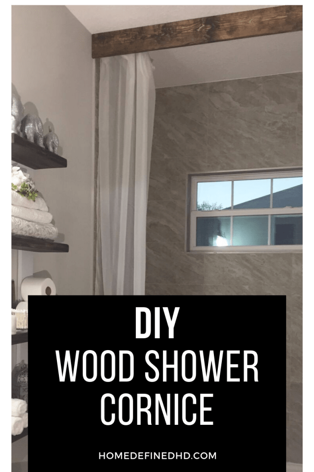 diy wood shower cornice diy shower
