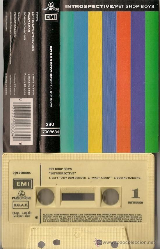 Cassette Pet Shop Boys Introspective Pet Shop Boys Album Cover Art Album Covers