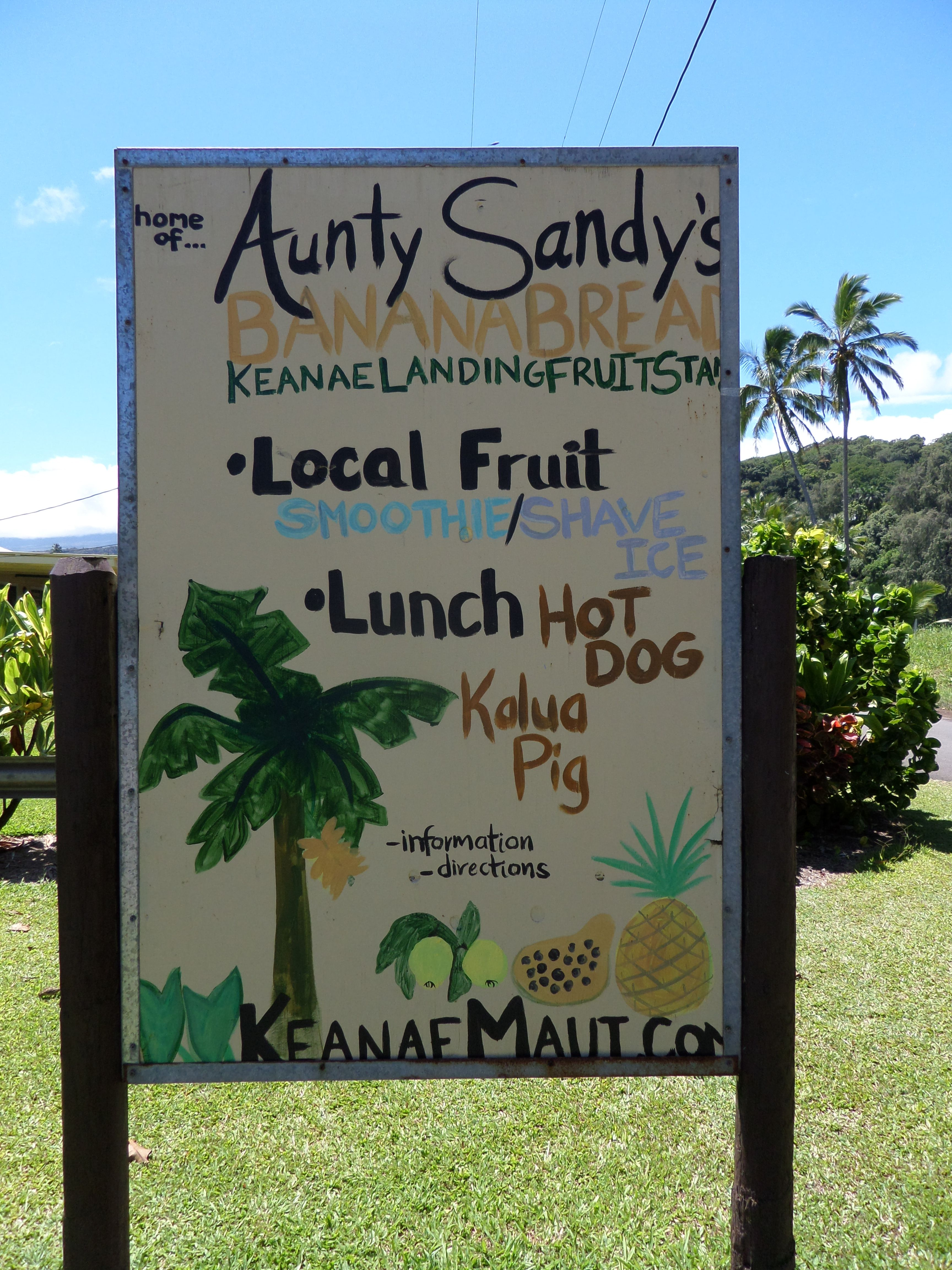 best place for a snack on the road to Hana