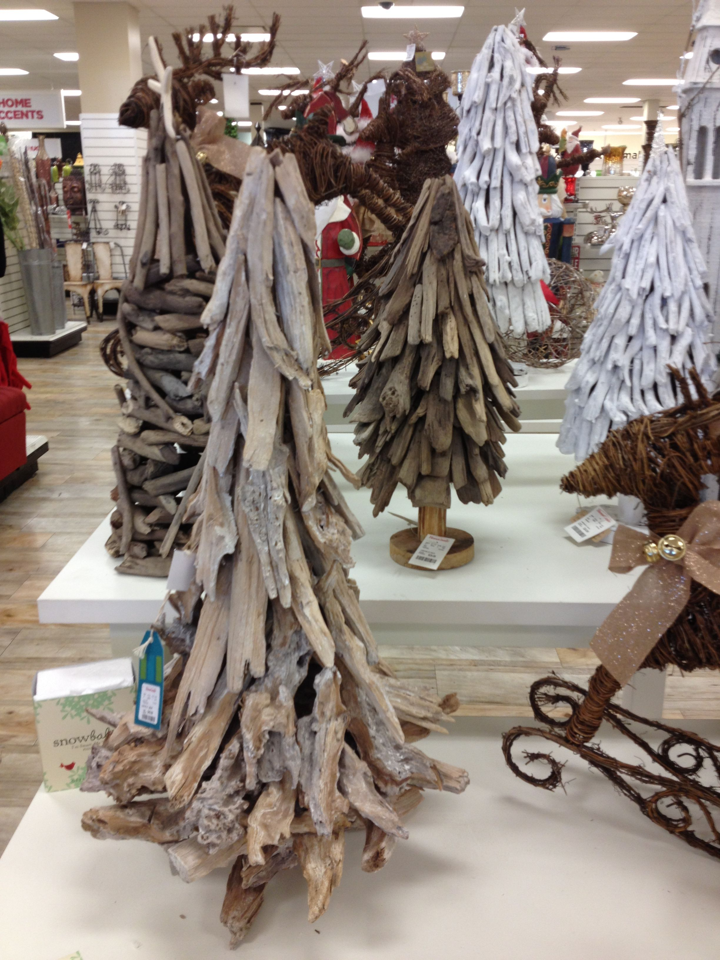 Drift wood trees from home goods
