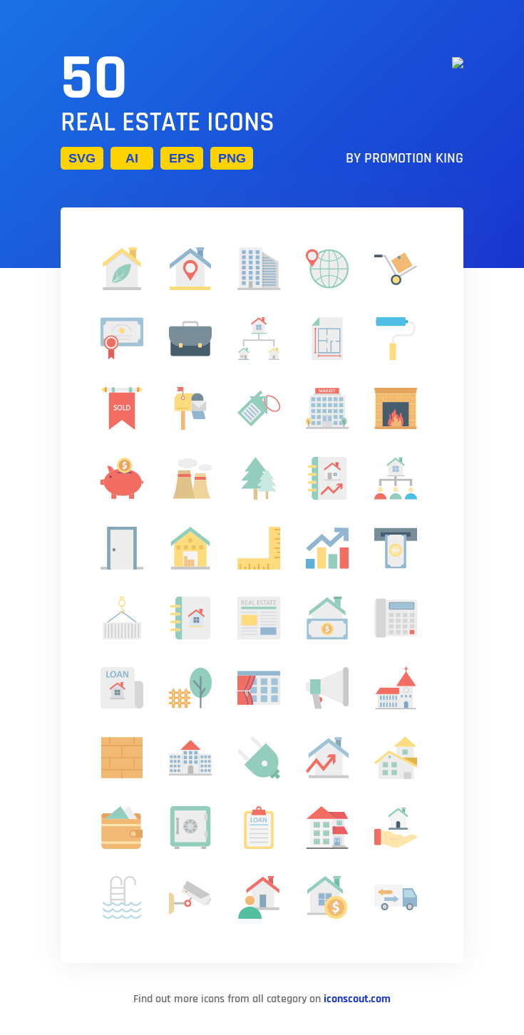 Real Estate Icon Pack 50 Flat Icons Real Estate Icons Icon Pack