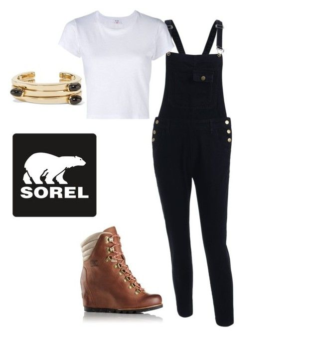 Kick Up the Leaves (Stylishly) With SOREL: CONTEST ENTRY by nathaliepl on Polyvore featuring polyvore, moda, style, RE/DONE, Lisa Eisner, SOREL, fashion, clothing and sorelstyle