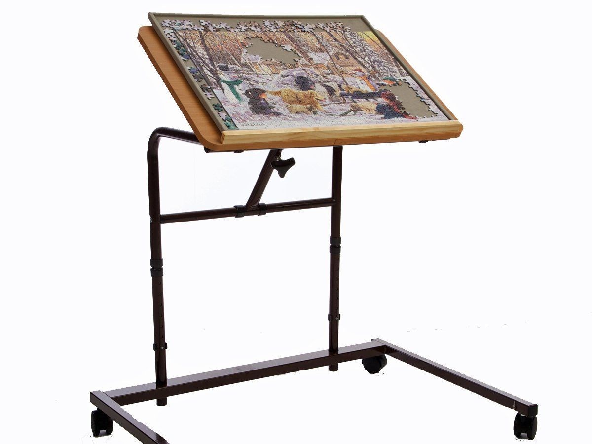 Exceptional Puzzle Table. Great Idea For Working On Jigsaw Puzzles.