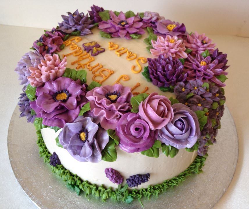 buttercream flowersarti cakes on facebook Decorating Cakes
