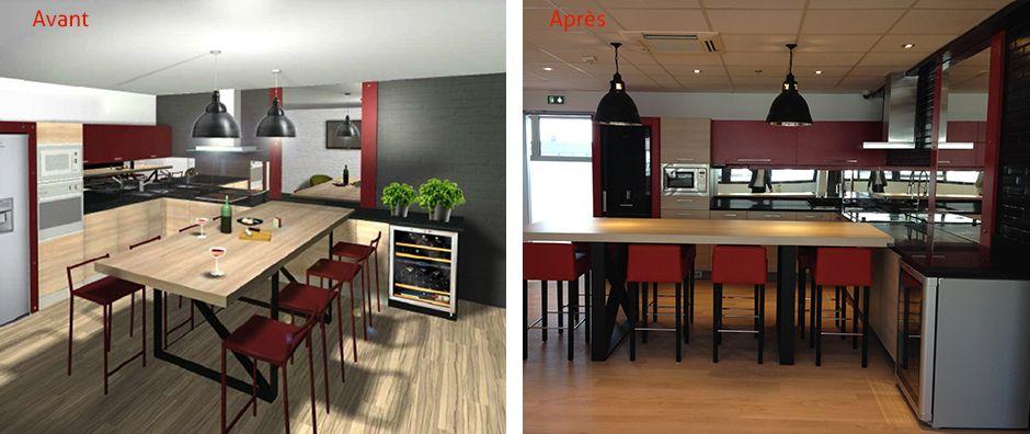 AFCB a créé un espace professionnel au coeur des bureaux, avec une ...