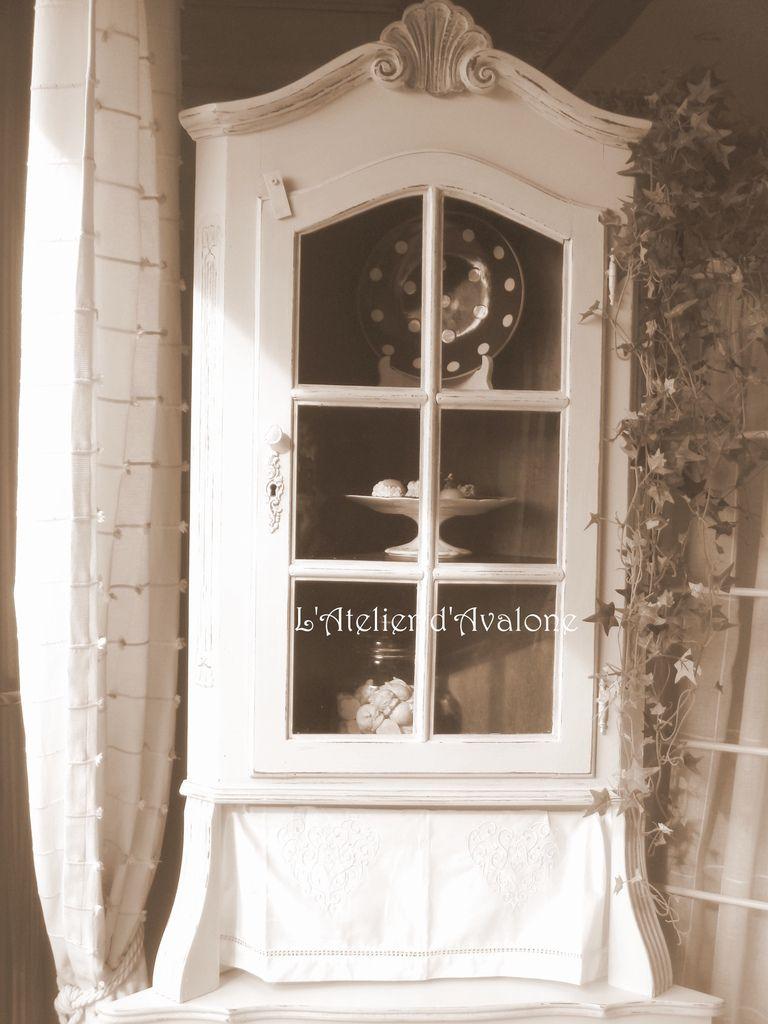 Relooking D Un Meuble D Angle Dans Un Style Cottage Anglais L Atelier D Avalone Mobili Soggiorno