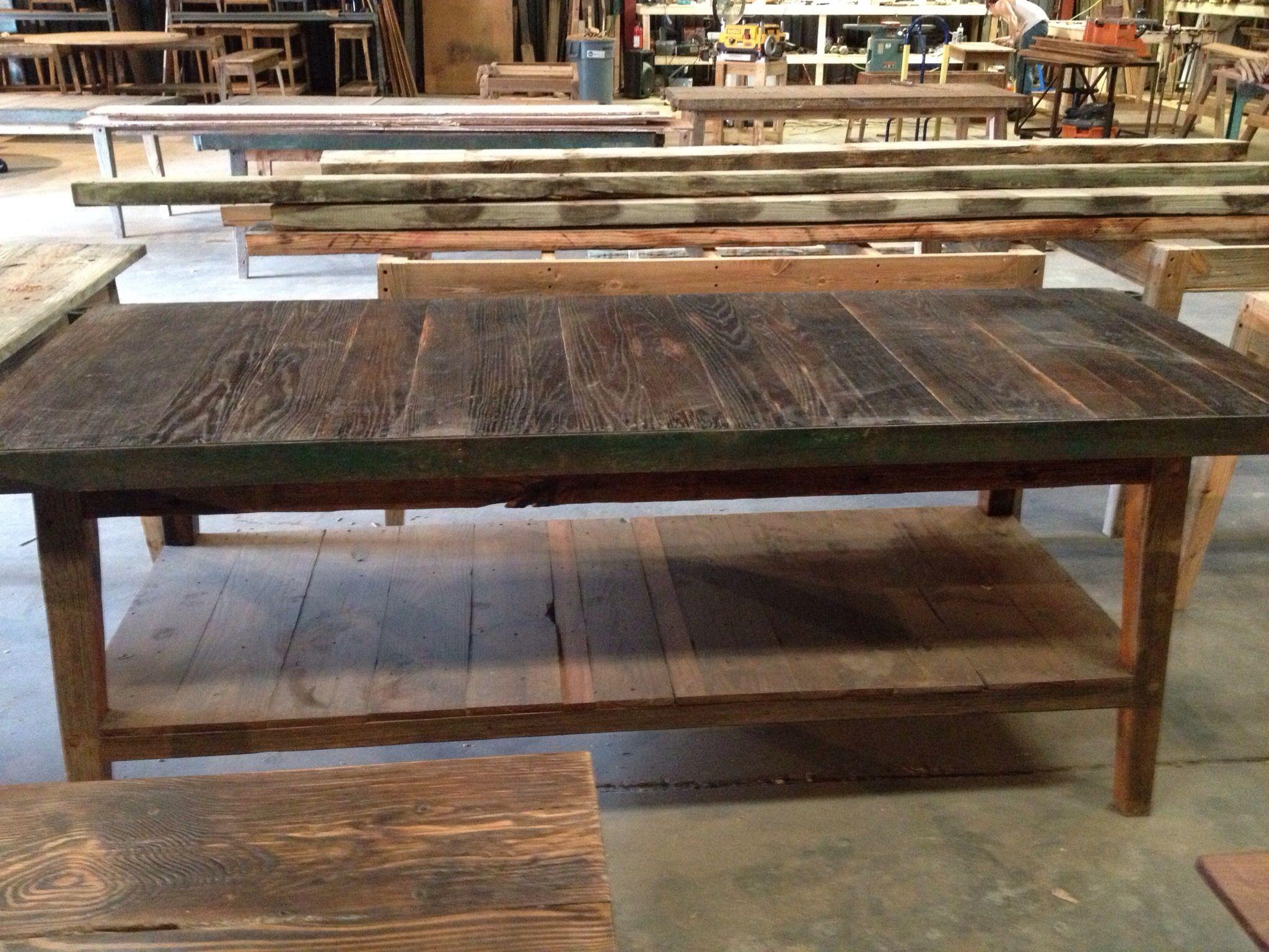 Marvelous Industrial Reclaimed Pallet Top With Low Shelf Made By Landrum Tables In Charleston  SC Http: Low ShelvesShelfCustom FurnitureCharleston ...