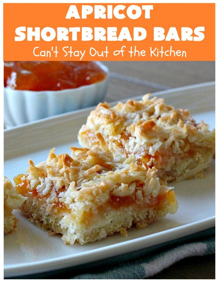 Apricot shortbread bars cant stay out of the kitchen in