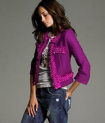 classic jacket + jeans.