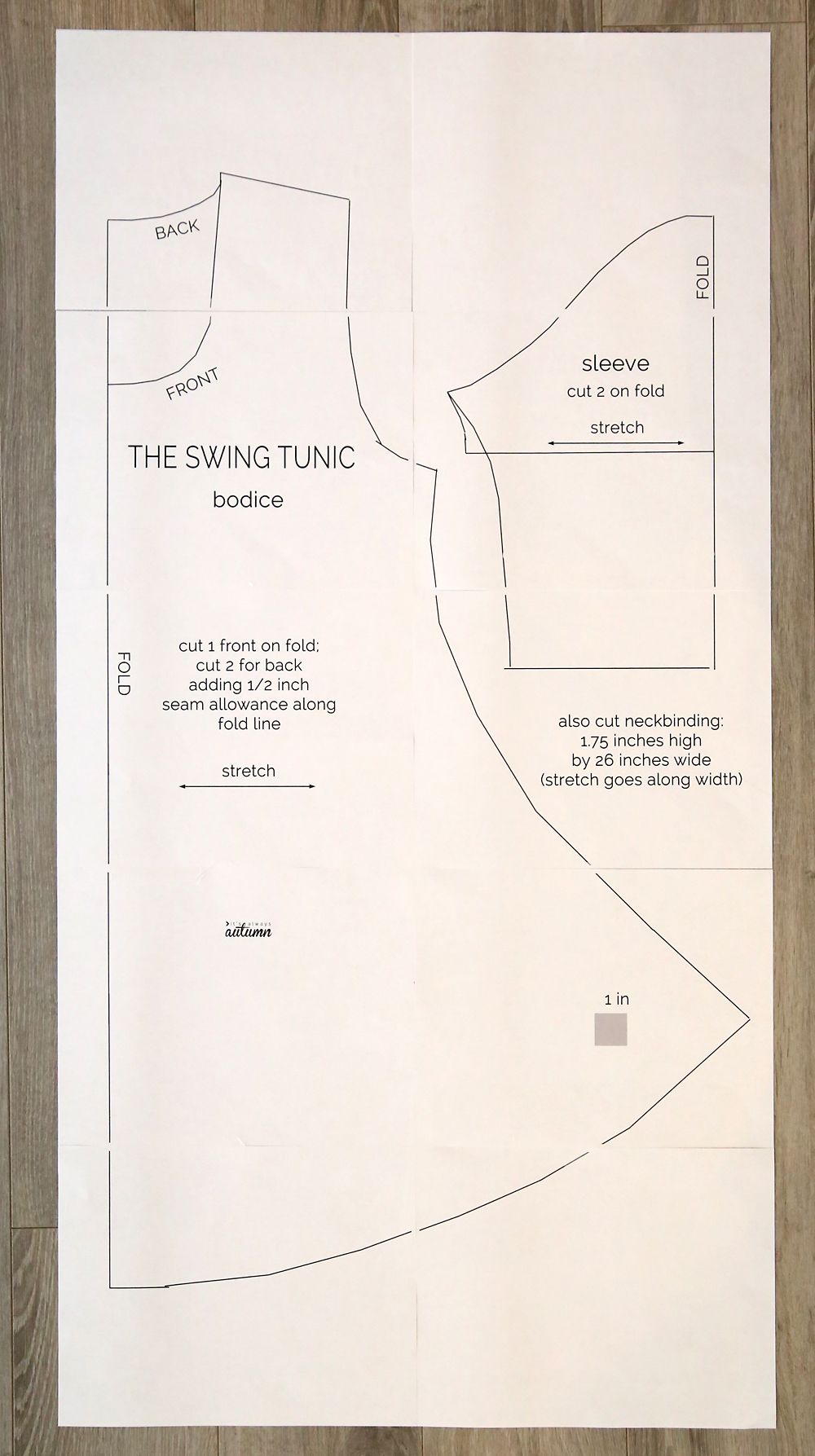89f893e122fa Easy swing dress sewing pattern and tutorial. How to sew a swing dress.