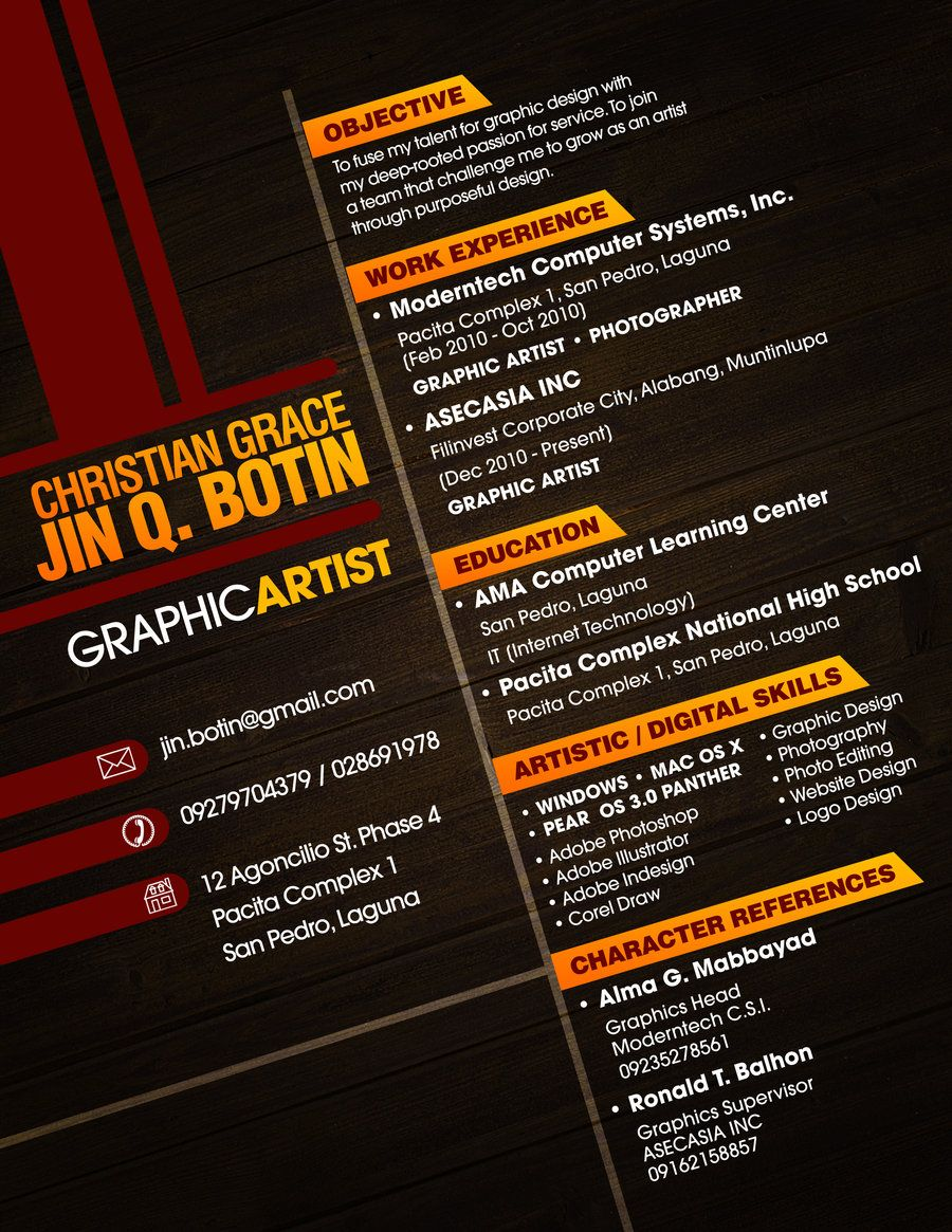 best fonts graphic design resume creative graphic resume designs examples